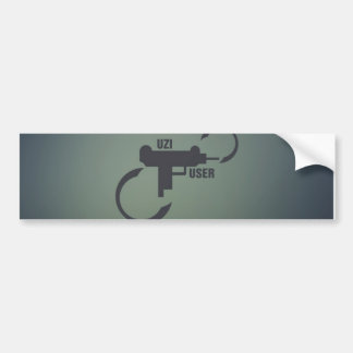 UZI 9MM. BUMPER STICKER