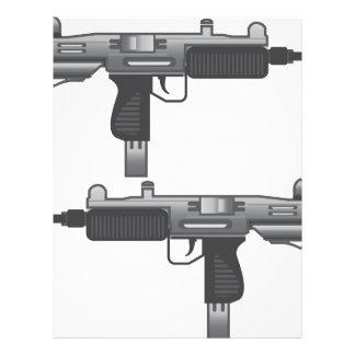 Uzi Gun vector Customized Letterhead