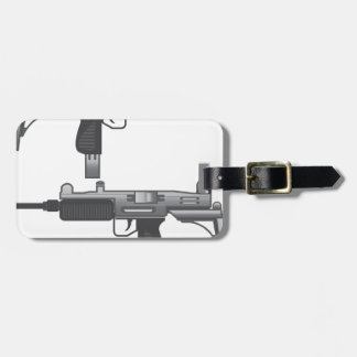 Uzi Gun vector Luggage Tag