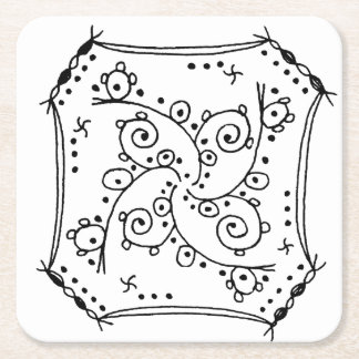 uzumaki chan square paper coaster