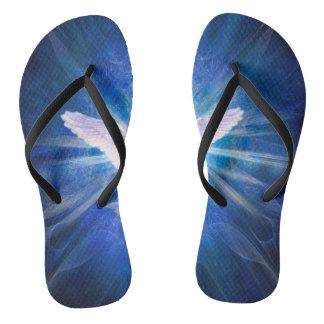 V009-Angel 5 Blue Flip Flops