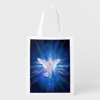 V009-Angel 5 Blue Reusable Grocery Bag