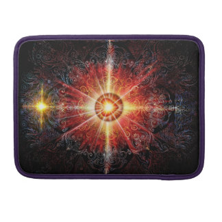 V010-Heart Mandala Red MacBook Pro Sleeves