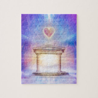 V014- Know Thy Heart Magenta Jigsaw Puzzle