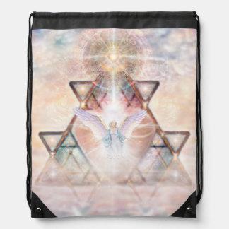 V015- Angel Heart Drawstring Bag