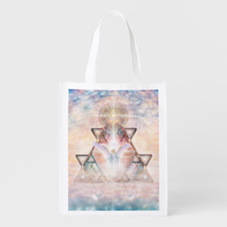 V015- Angel Heart Reusable Grocery Bag