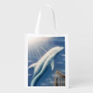 V025- Dolphin Dreamer Reusable Grocery Bag