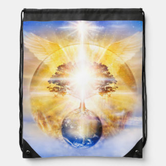 V026- Tree of Light Wings Drawstring Bag