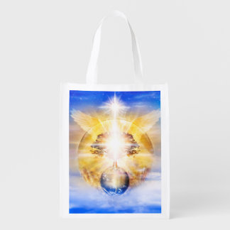 V026- Tree of Light Wings Reusable Grocery Bag