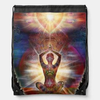 V034 Heart Salutation 3 Drawstring Bag
