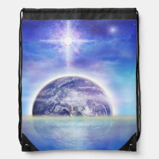 V043 Earth Water Air Drawstring Bag