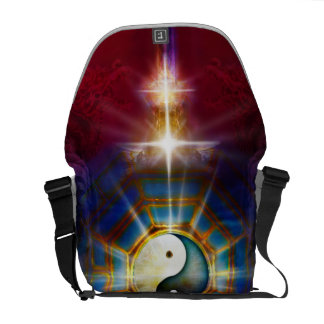 V051 BaGua Dragons Courier Bag