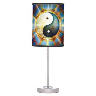 V051 BaGua Dragons Table Lamp