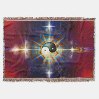 V051 BaGua Dragons Throw Blanket