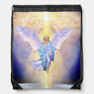 V056 Heaven & Earth Angel Drawstring Bag