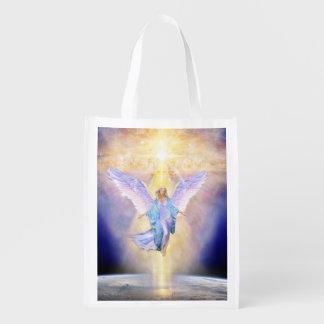 V056 Heaven & Earth Angel Reusable Grocery Bag