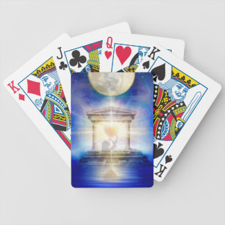 V058 Moon Temple Heart Bicycle Playing Cards