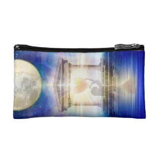 V058 Moon Temple Heart Cosmetic Bag