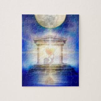 V058 Moon Temple Heart Jigsaw Puzzle