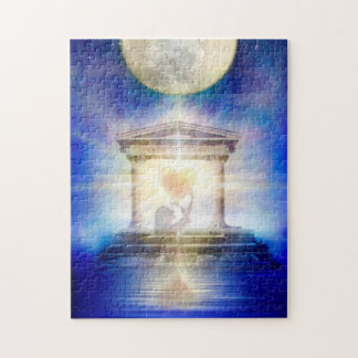 V058 Moon Temple Heart Jigsaw Puzzle