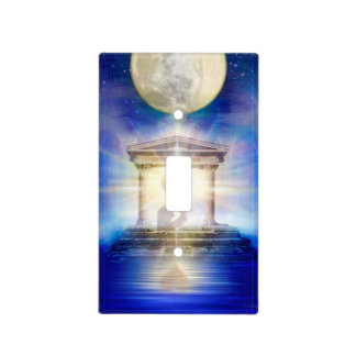 V058 Moon Temple Heart Light Switch Cover