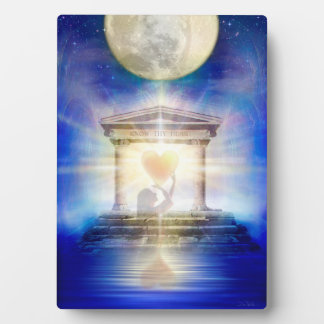 V058 Moon Temple Heart Plaque