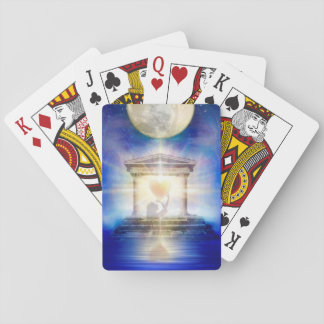 V058 Moon Temple Heart Playing Cards