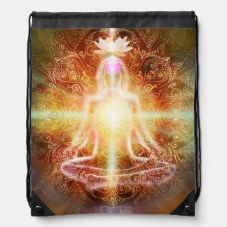 V059 Lotus Meditator Drawstring Bag