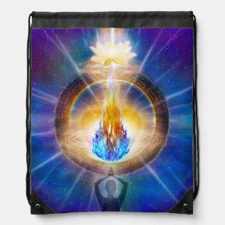 V061 Azul Flame Portal Drawstring Bag