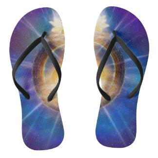 V061 Azul Flame Portal Flip Flops