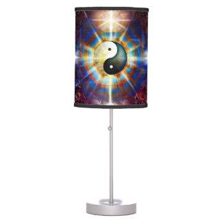 V064 BaGua Buddha Dragon Table Lamps