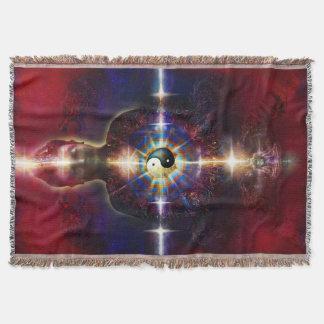 V064 BaGua Buddha Dragon Throw Blanket