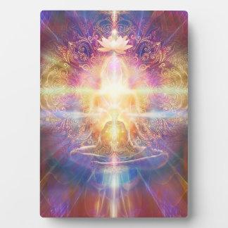V073 Orange Sunshine Meditator Plaque