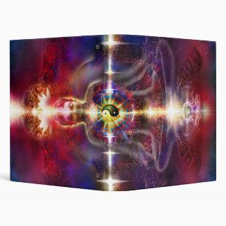 V074 Awake Buddha Dragons 3 Ring Binder