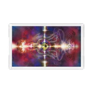 V074 Awake Buddha Dragons Acrylic Tray