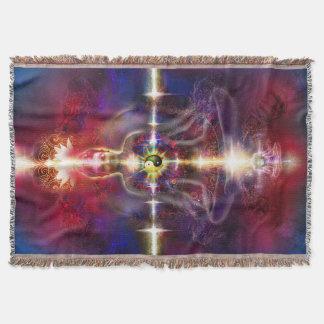 V074 Awake Buddha Dragons Throw Blanket