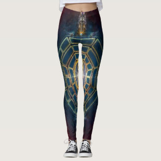 V078 BaGua Dragons Leggings