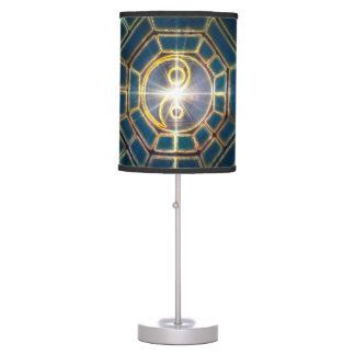 V078 BaGua Dragons Table Lamp