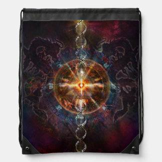 V083 Light in Shadow 38 Drawstring Bag
