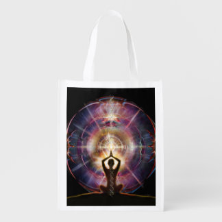 V087 Armored Heart Salutation Reusable Grocery Bag