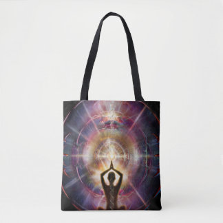 V087 Armored Heart Salutation Tote Bag