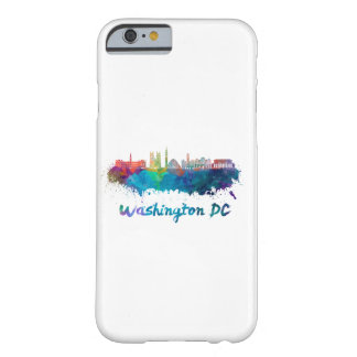 V2 Washington DC skyline in watercolor Barely There iPhone 6 Case
