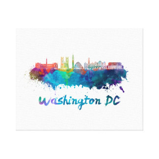 V2 Washington DC skyline in watercolor Canvas Print