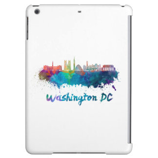 V2 Washington DC skyline in watercolor iPad Air Cases