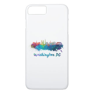 V2 Washington DC skyline in watercolor iPhone 8 Plus/7 Plus Case