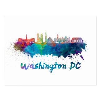 V2 Washington DC skyline in watercolor Postcard