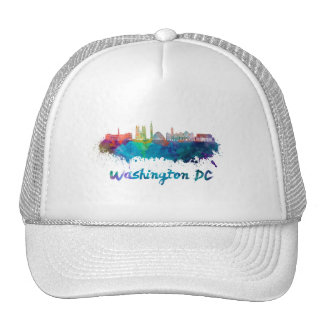 V2 Washington DC skyline in watercolor Trucker Hat