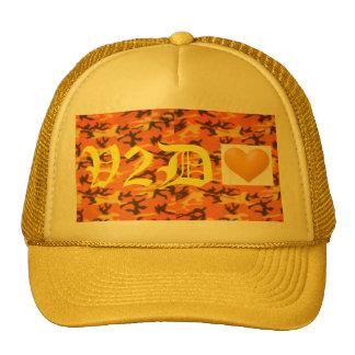 V2DHEART CUSTOM YELLOW&ORANGE CAMO OLD ENGLISH HAT