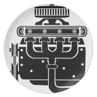V8 Engine Plate