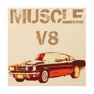 V8 Muscle Car Wood Print